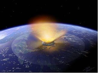 meteor nedslag på jorden