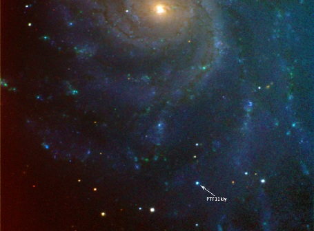 Supernovaen i M101